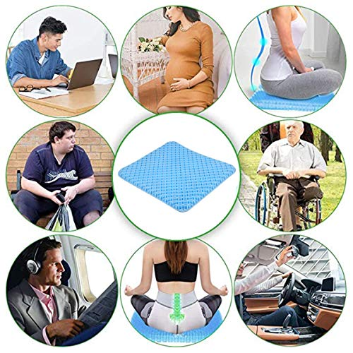 LITARO Gel Seat Cushion for Office Chair Home Cars Large Size Egg Sitter Breathable Seat Cushions for Pressure Pain Relief