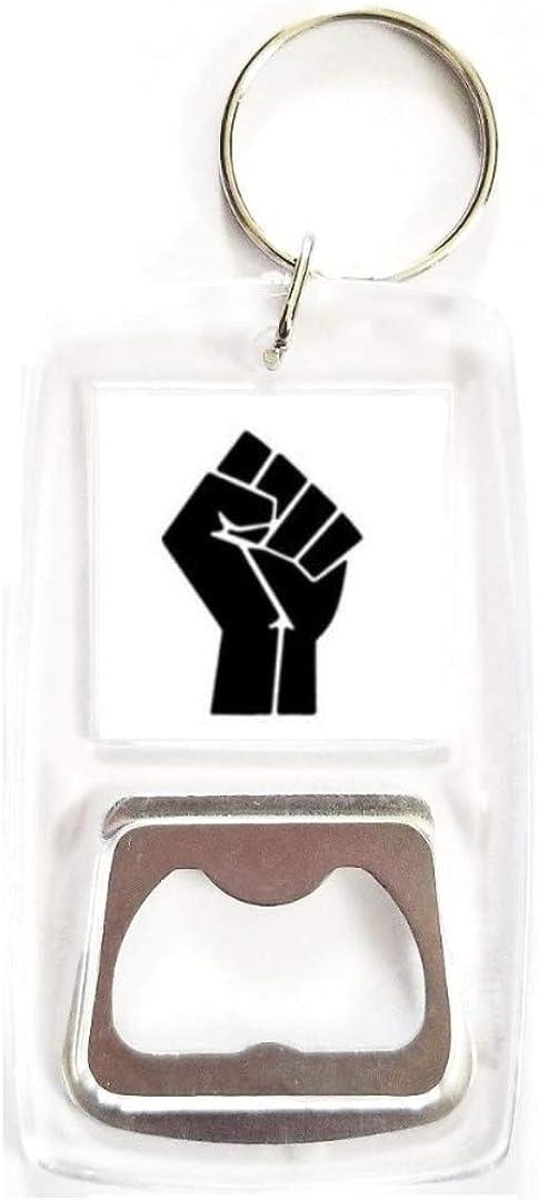 Black Power Fist Hand DIY Resin Art Craft Keychain Keyring Jewelry Silicone Mold