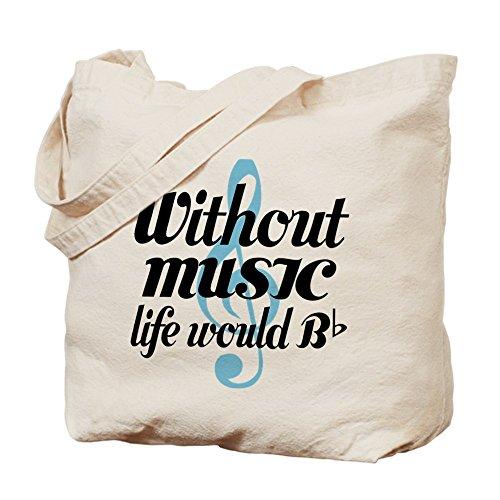 CafePress–Senza musica vita citazione–Borsa di tela naturale, panno borsa per la spesa