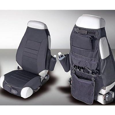 Rugged Ridge 13235.01 Black Fabric Seat Protector with Storage - Pair: Automotive