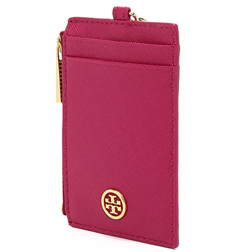 Tory Burch Robinson Lanyard in Saffiano Leather (Dark Peony) by Tory Burch