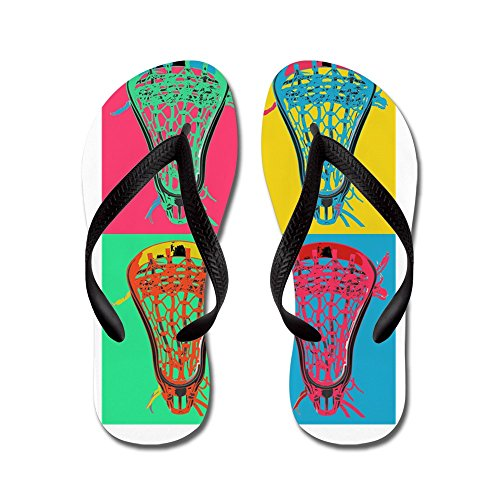 CafePress Summer Set BIG4 - Flip Flops, Funny Thong Sandals, Beach Sandals Black