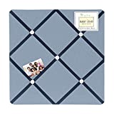 Sweet Jojo Designs Light Blue Fabric Memory/Memo Photo Bulletin Board for Ocean Blue Collection