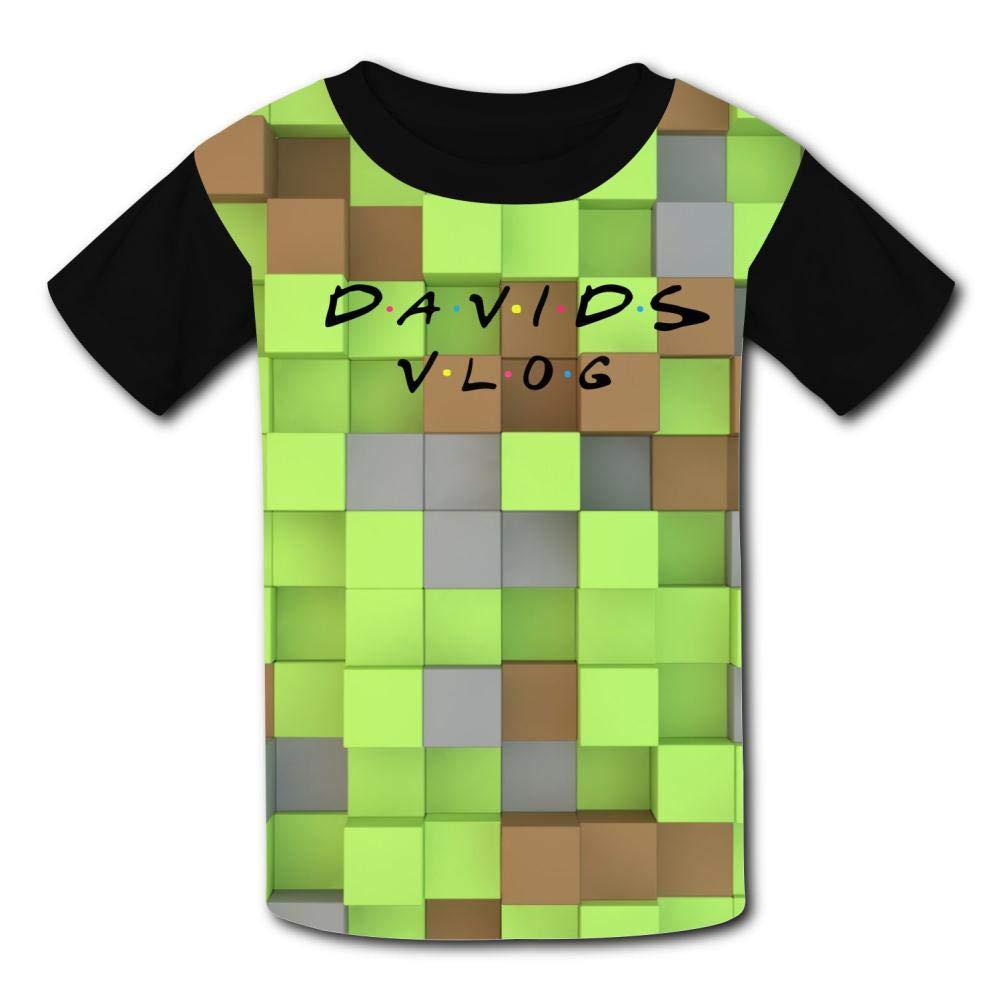 AANXSX Youth T Shirts David Dobrik Shirts for Boys Girls 3D Graphic Short Sleeve Summer Tee