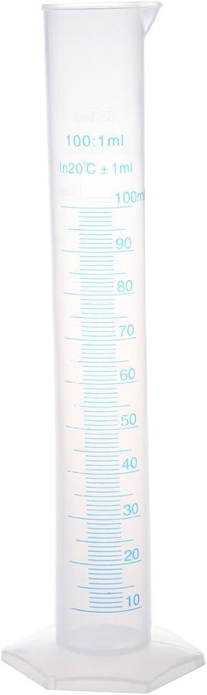 SODIAL(R) 100ml transparente plastico probeta