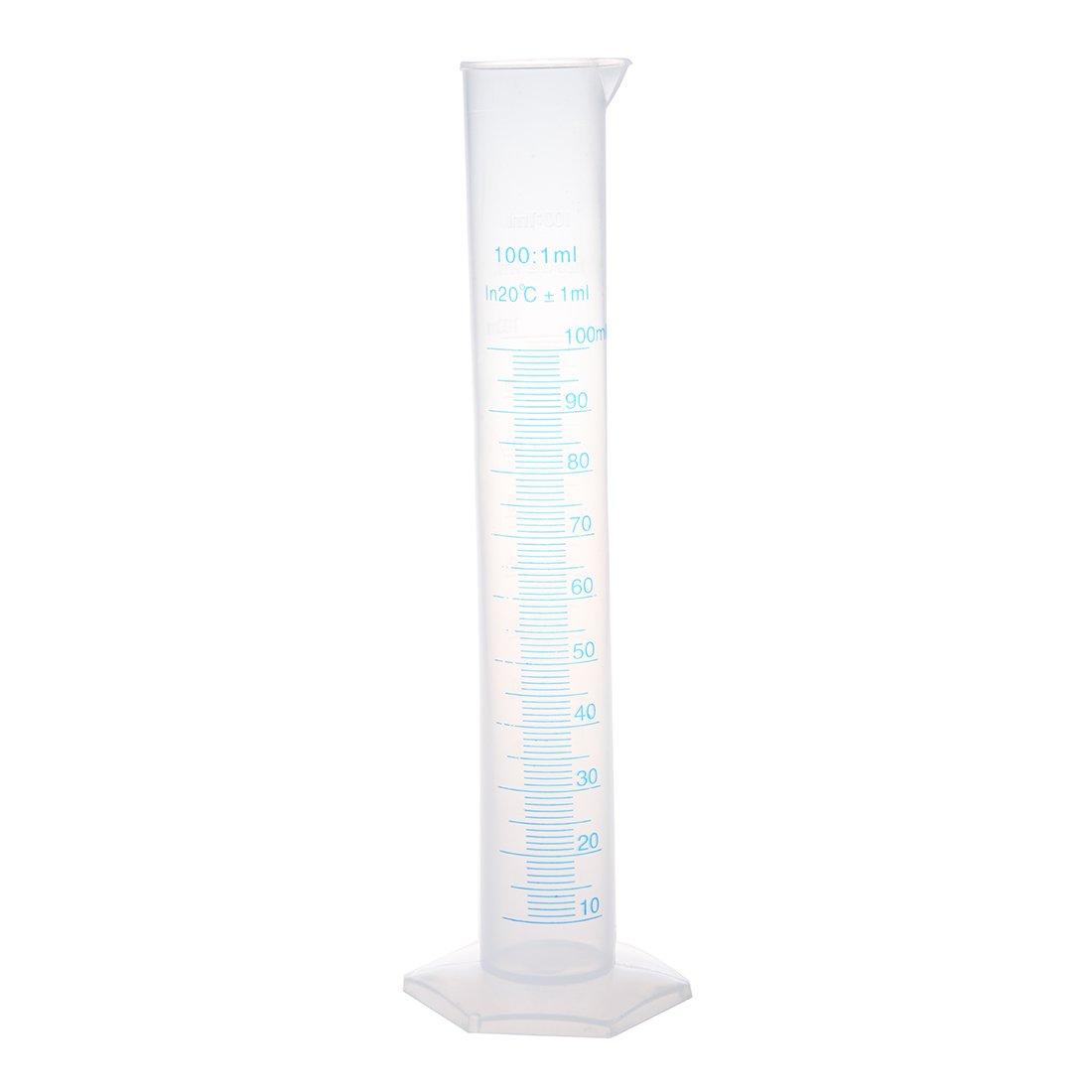 25cm High 100ml Plastic Graduated Cylinder Measuring Cup 1 milliliter SODIAL(R) US-SA-AJD-342342