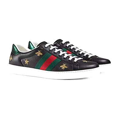 da43414a6a06 Gucci 2019 Spring New bee Star Embroidery Casual Shoes A38FO (5) Black