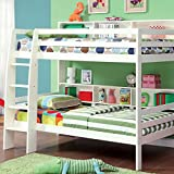 247SHOPATHOME Idf-BK613WH Bunk-Beds, twin-twin, White
