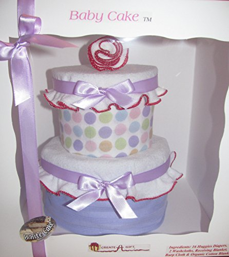 Cakes Baby Sweet (Create-A-Gift Simply Sweet Baby Cake, Pink/Purple)