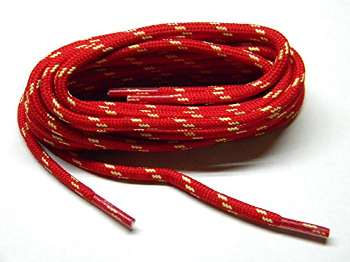 Red w/Natural Yellow Kevlar(R) proTOUGH(TM) Boot Shoelaces -(2 Pair Pack) (84 Inch 213 cm)