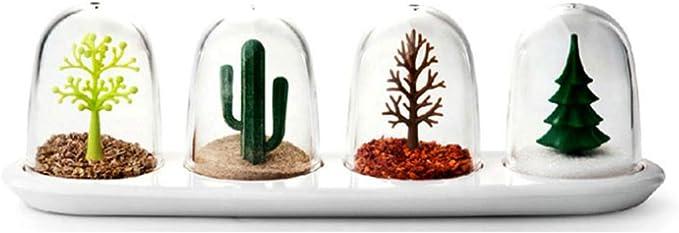 Condimento Scatola Di Plastica Da Cucina Sale Pepe Condimento Condimento Shaker Cruet Spice Jar Bottiglia Cofanetto Piante Quattro Stagioni