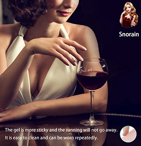 Adhesive Lift Nipple Covers - 4inch - Reusable Pasties for Women Invisible Round Silicone Cover by Snorain (Image #1)