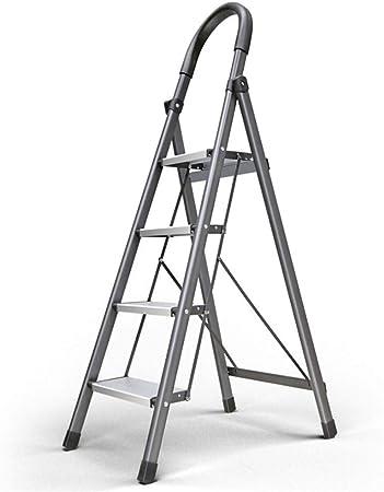 Escalera De Aluminio Liviana Escaleras De Tijera Plegables Escalera Para El Hogar Y La Cocina Escaleras De Pedal Antideslizantes Resistentes Y Anchas Capacidad De 330 Lb Ahorro De Espacio,4Step: Amazon.es: Hogar