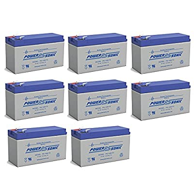 PS-1290 12 Volt 9 Amp Hour Rechargeable SLA Battery - PACK OF 8