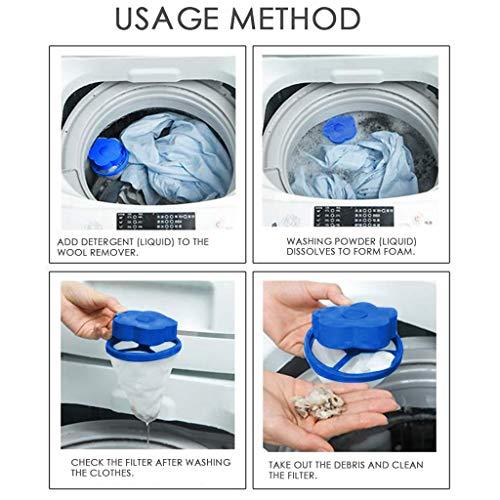 Washing Machine Lint Filter Bag,Mesh Bag Hair Filter Net,Reusable Washing Machine Filter(D) by MONISE (Image #3)