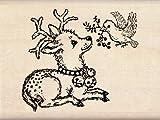 Inkadinkado Wood Stamp, Deer and Bird