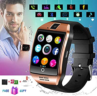 Smart Watch,Smart Watches,Smartwatch for Android Phones, Smart Wrist Watch Touchscreen with Camera Bluetooth Watch Phone Watch Cell Phone Compatible Android ...
