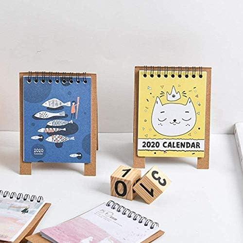 Cartoon Desktop-Desk Papier Kalender 2019-2020 Falten Netter Kraft Paper Office Hinweis: Mini, Farbe: K (Color : I)