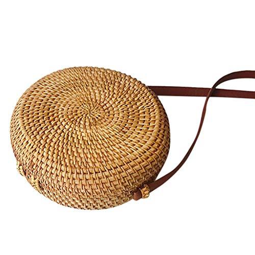 Circle Nuovo A Bali Grass Rattan Handwoven Amuster Tracolla Round B Bag Selvaggio Vintage Borsa Beach zdwxqA