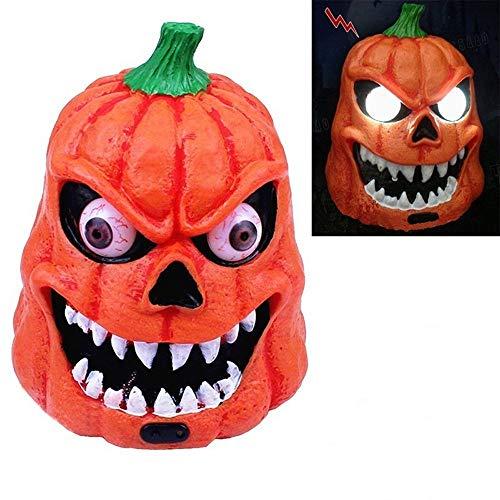 Party Masks Masquerade, Elevin(TM) Halloween Pumpkin Ghost Lamp Figurines LED Light Humor Creative Sound Sensitive
