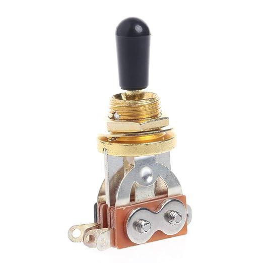 SimpleLife para Les Paul 3-Way Interruptor de Palanca de Oro ...