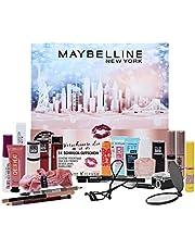 Maybelline New York Adventskalender 2021, 24 beauty-dagen, make-up beauty cosmetica, kalender, verrassingen, 24 deurtjes, voor de adventstijd