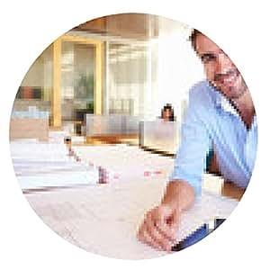 alfombrilla de ratón Arquitecto de sexo masculino con la tableta digital Estudiar los planes en la oficina - ronda - 20cm