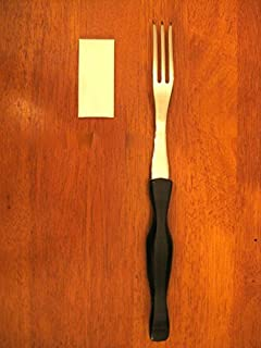 """product image for CUTCO Model 1726 Turning Fork with Classic Dark Brown handle (often called """"Black"""") in factory-sealed plastic bag."""