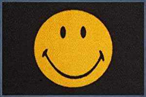 Wash+dry - Alfombra Smiley 50x75, Amarillo