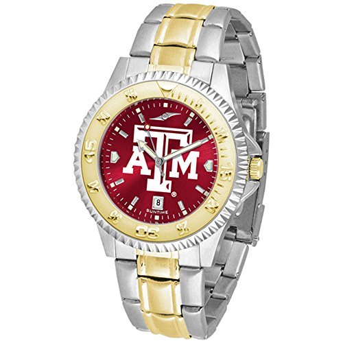 Aggies Mens Watch (Texas A&M Aggies Competitor Two-Tone AnoChrome Men's Watch)