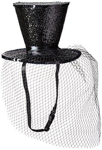 Leg Avenue Mini Top Hat With Veil, Black, One Size