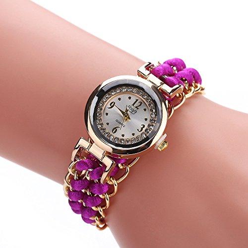 (Women Quartz Watches VANSOON Ladies Crystal Stainless Steel Analog Quartz Wrist Watch Casual Bracelet Watch Stainless Steel PU Leather Pocket Watches)