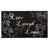 Structures Textured Loop 18 x 30 in. Oblong Kitchen Rug, Live Laugh Love