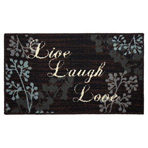 Structures Textured Loop 18 x 30 in. Oblong Kitchen Rug, Live Laugh Love by Structures