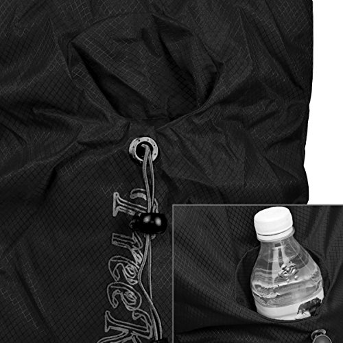 Foldable Travel Duffle Bag Outdoor Sports Water Resistant Nylon Nailon Negro, by LC Prime Negro
