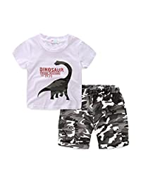 Mud Kingdom Little Boys' Camo Shorts Sets