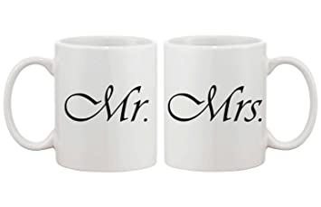 amazon com mr and mrs couple mugs his and hers matching coffee