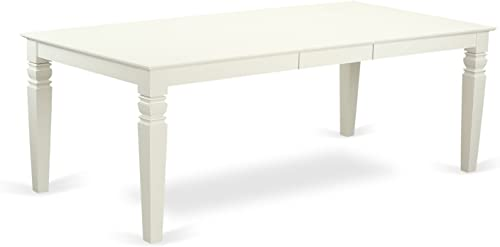 Logan Dining Table with Wood Seat – Linen White Finish.