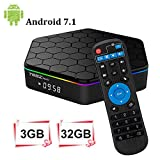 YAGALA T95Z Plus Android 7.1 TV Box 3GB RAM/32GB ROM Octa Core Amlogic S912 TV Box support 4K Dual Band WiFi 2.4GHz/5GHz Bluetooth 4.0 HDMI Ethernet 64 Bits