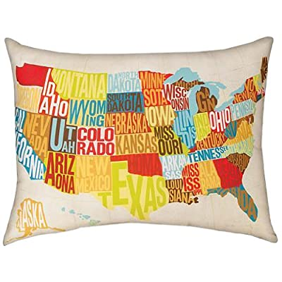 Manual Michael Mullan Indoor/Outdoor Reversible Pillow, Across The Country, 24 X 18-Inch: Home & Kitchen