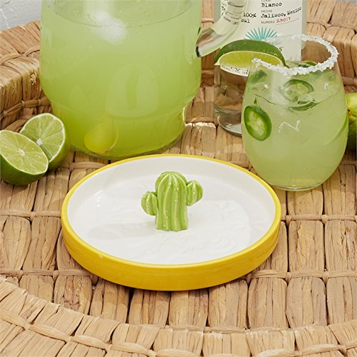 Two's Company Cactus Cocktail Salt Rimmer Dish by Two's Company (Image #1)