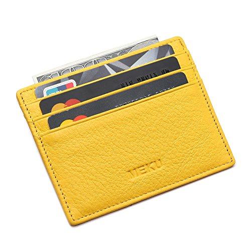 meku-slim-front-pocket-leather-wallet-business-credit-card-case-sleeve-minimalist-wallet-yellow