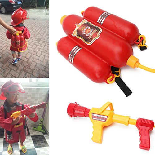 Seaskyer Fireman Toys ,Backpack Watergun Blaster, Extinguisher With Nozzle ,Children Outdoor Water Toy, Beach Toy, Summer Toys, Bath Toy for Kids Gifts ()