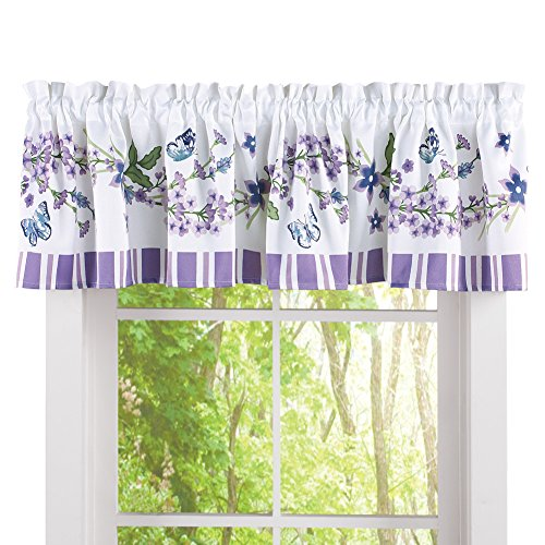 Collections Etc Lavender and Blue Floral Butterflies 71