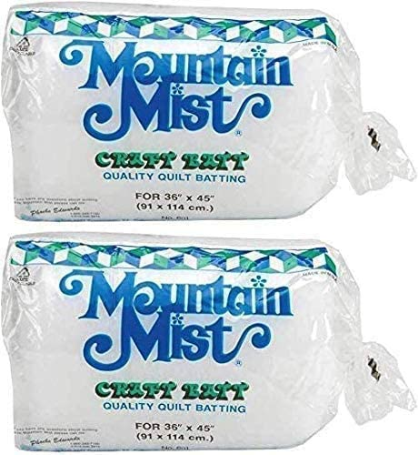 Craft 36-inch-by-45-inch 2 Pack Mountain Mist Polyester Quilt Batting
