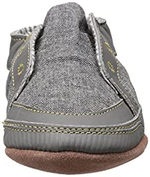 Robeez Stylish Steve Soft Sole Crib Shoe (Infant), Stone, 12-18 Months M US