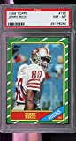 1986 Topps #161 Jerry Rice Rookie GRADED PSA 8 NRMT/MT