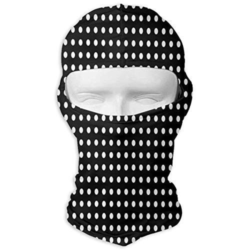 Balaclava Black and White Polka Dots Full Face Masks Ski Motorcycle Neck ()