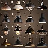 TYDXSD Vintage industrial lighting loft café bar bar iron American country cover single-head dining room chandelier , B