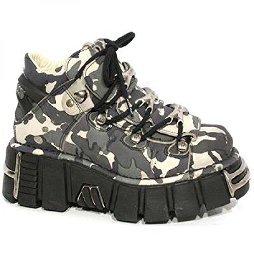 New Rock Boots M.106-c8 Hardrock Punk Gotico Unisex Stiefelette In Acciaio Colorato